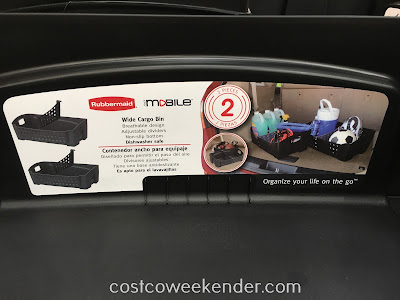 Costco 1089766 - Rubbermaid Wide Cargo Bin - Free up some room in the trunk of your car
