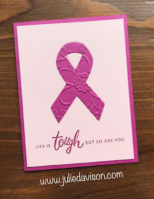Stampin' Up! Friendly Expressions ~ Cancer Support Card ~ www.juliedavison.com