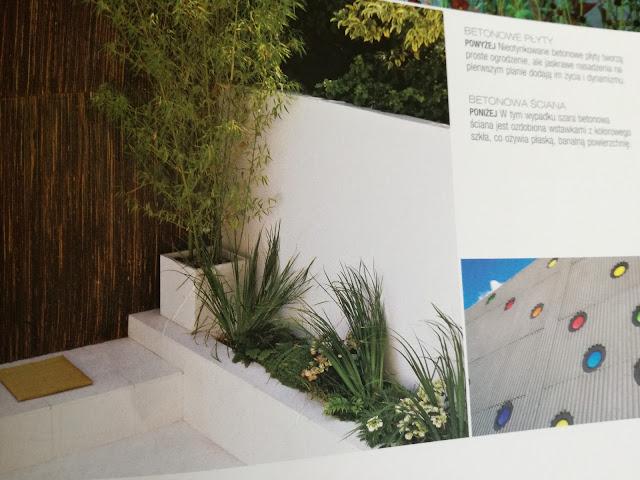 ściany w ogrodzie