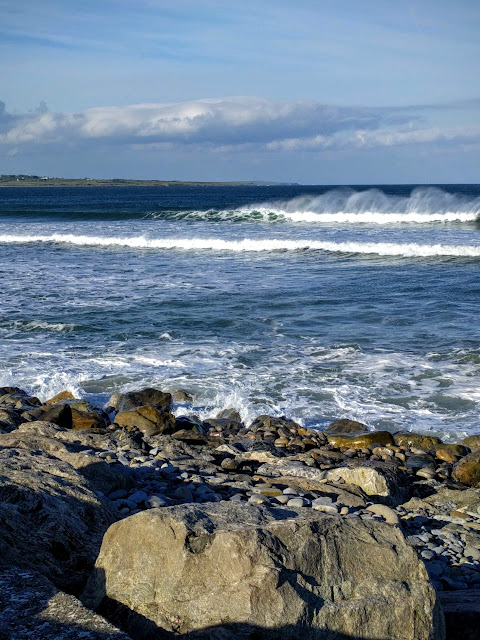 Waves along the Wild Atlantic Way in County Sligo, Ireland
