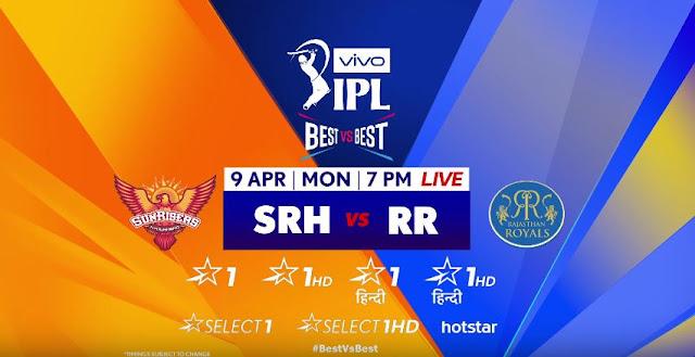 IPL 2018 live streaming SRH vs RR watch online