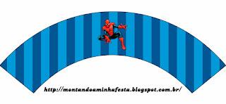 appers para Cupcake para Imprimir Gratis de Spiderman.