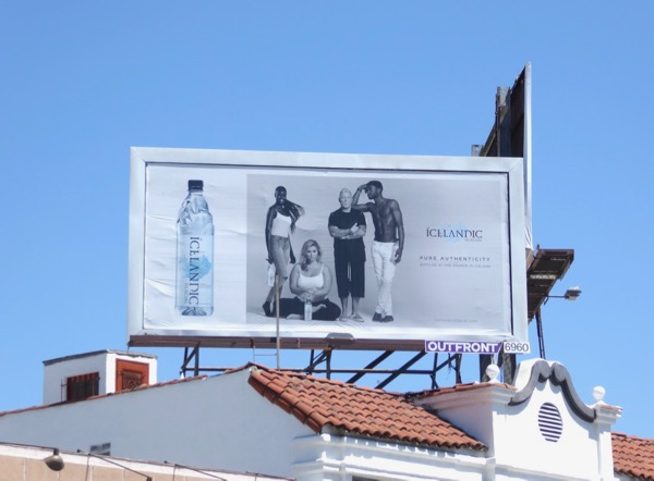 Icelandic Glacial water billboard