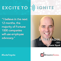 Russ Fradin of Dynamic Signal quote on employee advocacy