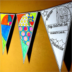 Back to school pennant with a Golden Ratio theme