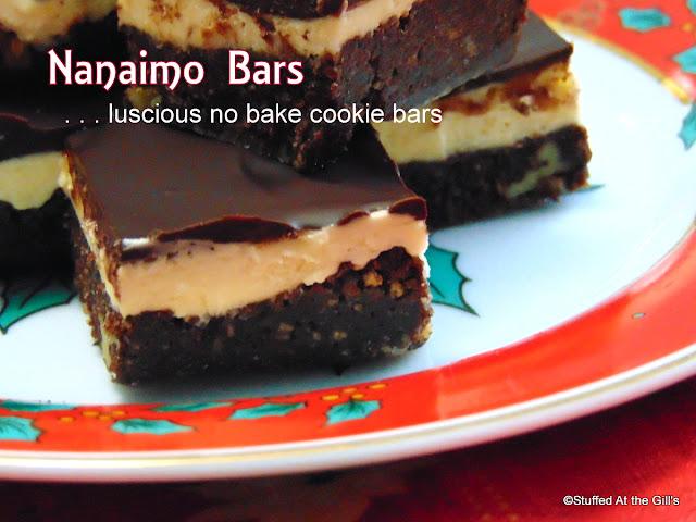 Nanaimo Bars, No Bake Cookie Bars