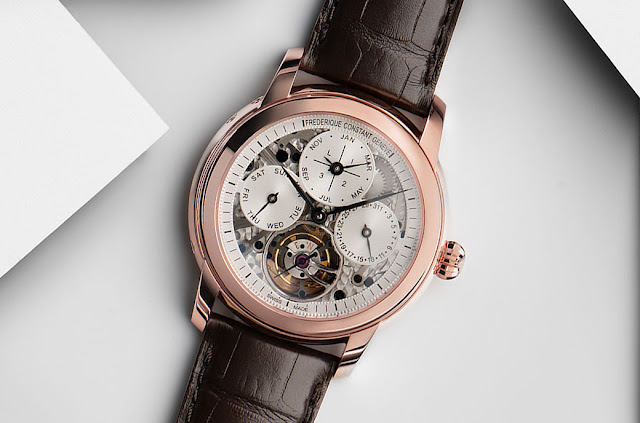 Frederique Constant Perpetual Calendar Tourbillon Manufacture in rose gold