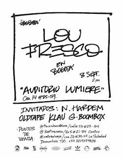 POSTER Concierto de LOU FRESCO en Bogotá 2018