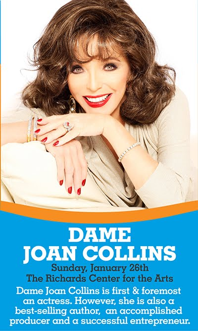 AN AFTERNOON WITH DAME JOAN COLLINS .. RICHARD CENTER FOR THE ARTS .. JANUARY 26TH 2020 ..