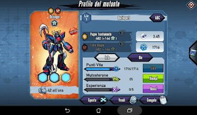 Mutants: Genetic Gladiators Breeding video N°229 (Dezinger - Robot)