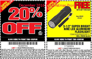 Harbor Freight coupons for december 2016
