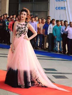 Bidya Sinha Saha Mim Bengali Model Stills Hot In Pink Dress