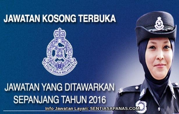 Iklan Jawatan Kosong Polis Diraja Malaysia (PDRM)