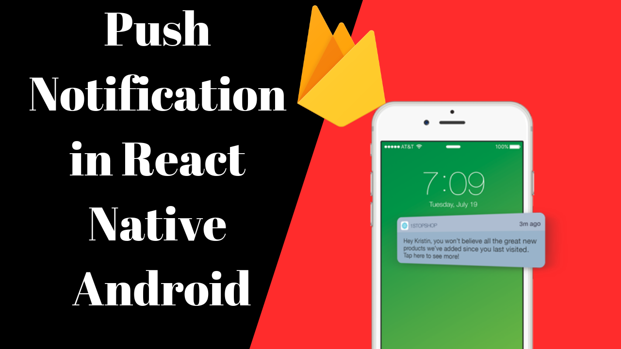 Push Notification in React Native Android with firebase (send by