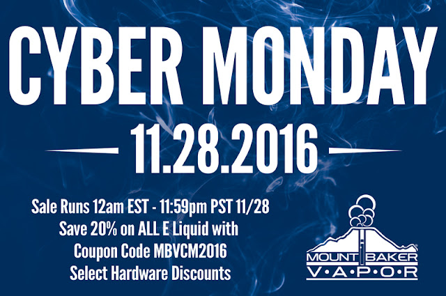 CYBER MONDAY: MTBAKERVAPOR – $3.00 15ML BOTTLES AND OR 20% OFF