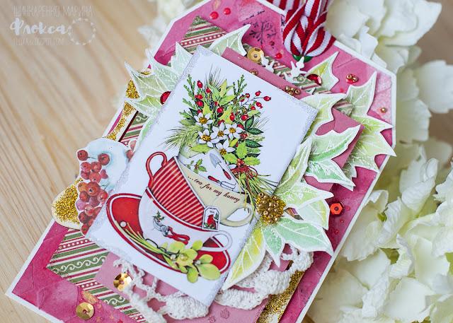 Рождественская мистерия, скрапбукиннг, красный и зеленый, золото, новый год