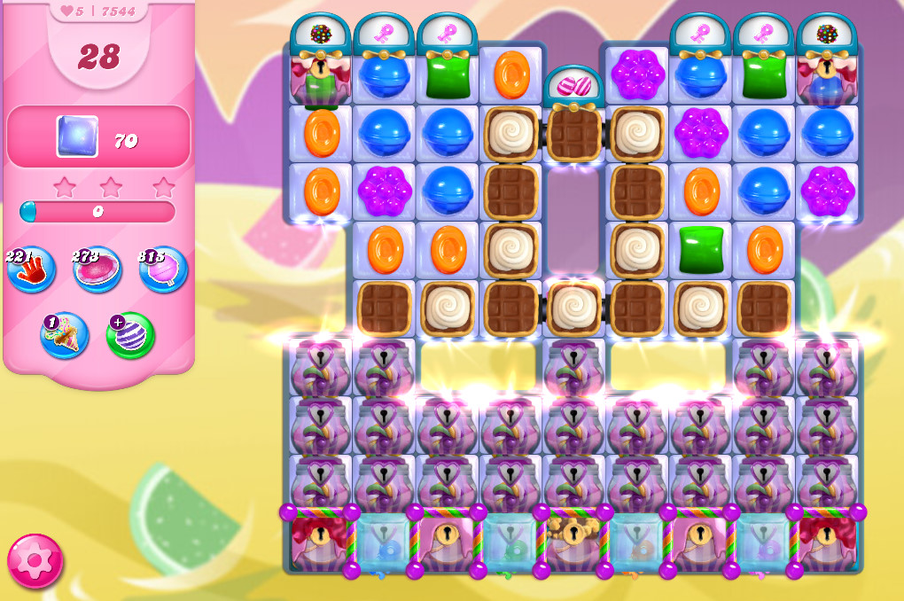 Candy Crush Saga level 7544