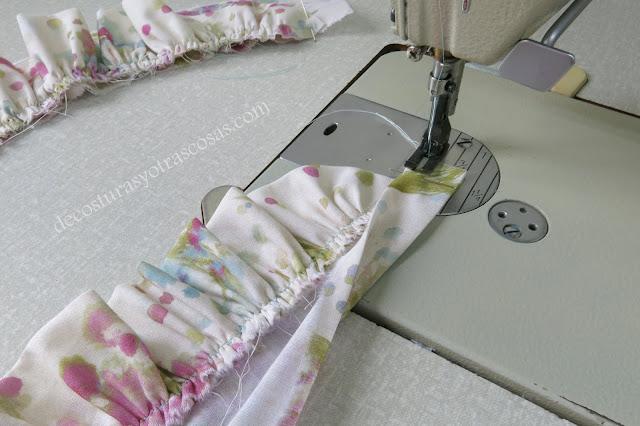 coser un tirante con adorno