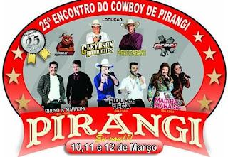 Agenda Shows Encontro do Cowboy de Pirangi 2017