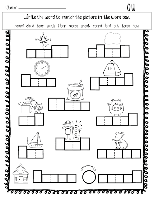 The Way I Teach: Phonics Activities for Diphthongs OU and OW