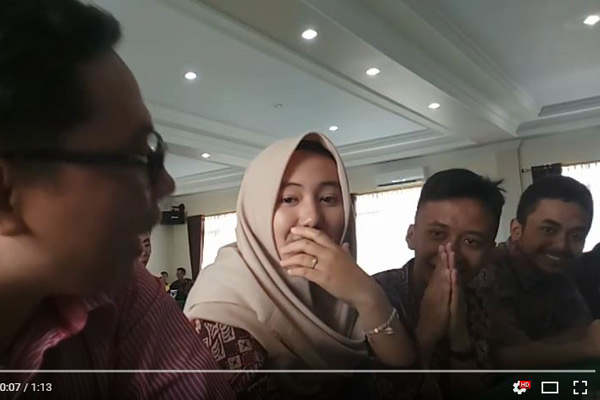 Pertemuan dengan Duta Wisata Cianjur dari SMAKZIE dan SMAN 1 Sukaresmi