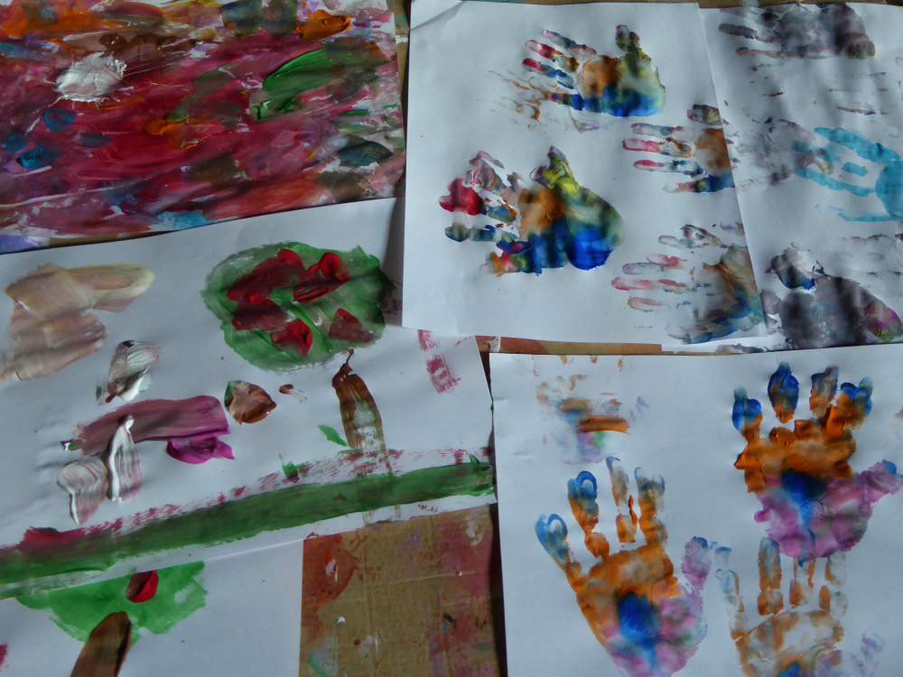 Toddler paintings