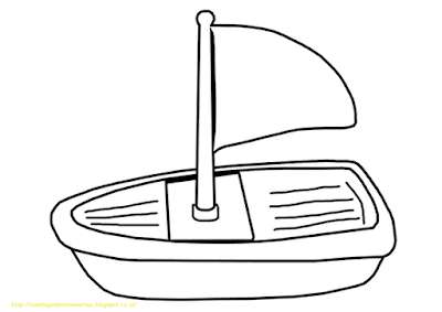 Mewarnai Gambar Kapal Laut - 6