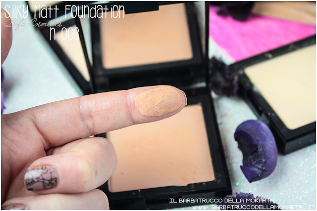 003 Silky Matt Foundations Defa Cosmetics Fondotinta vegan  swatches