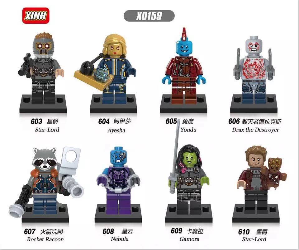 downtheblocks: XINH X0159: Guardians of the Galaxy Vol 2 Minifigs ...