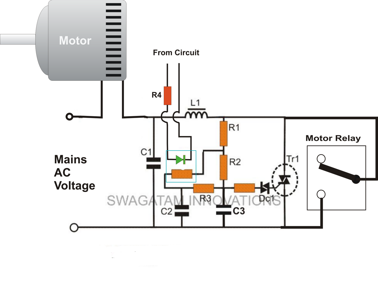 Scr As Half Wave Rectifier Ac Power Control Circuit Diagram Free Wiring For You Adding A Soft Start To Water Pump Motors Reducing Relay Controlled Battery Charger Schematics Transformerless