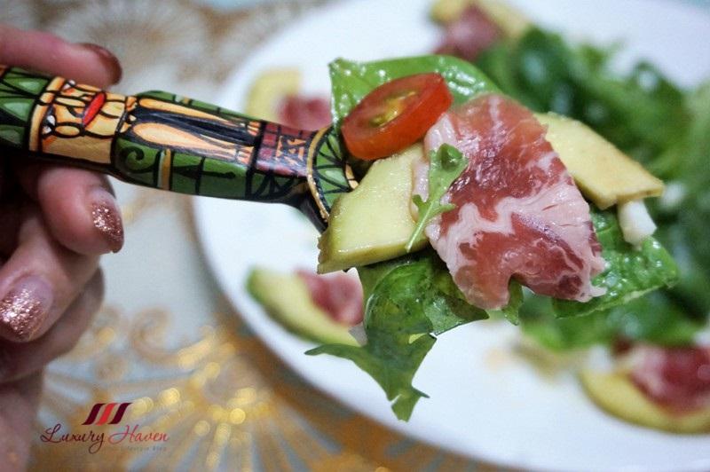 parma ham avocado salad white truffle honey recipe