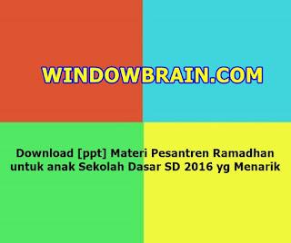 [ppt] Materi Pesantren Ramadhan anak Sekolah Dasar SD 2016 yg Menarik - download file Terbaru