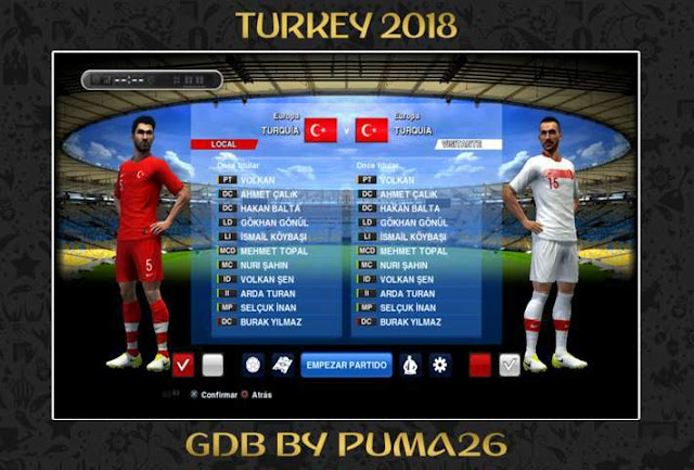 Turkey 2018 Kit PES 2013