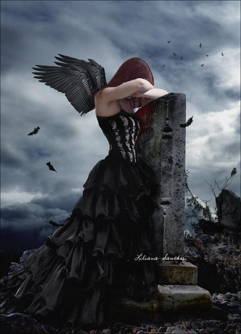 fantasy art angel sad - photo #43