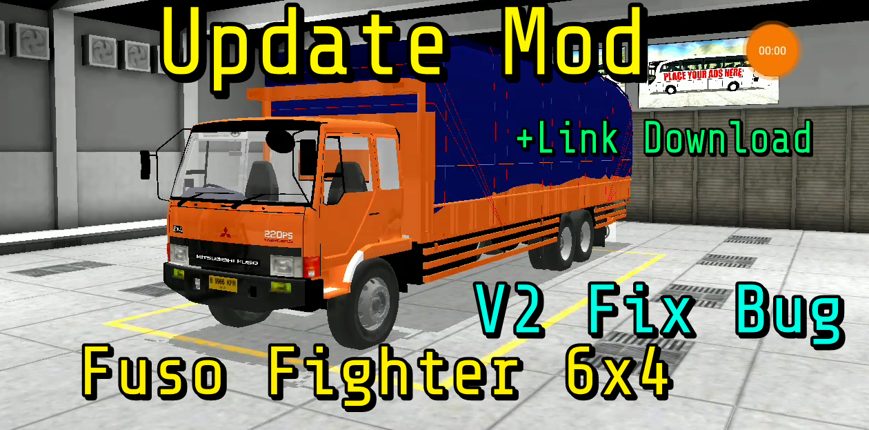 Fuso Fighter Dump 6x4 Mod Bussid Terbaru Namkur Moding