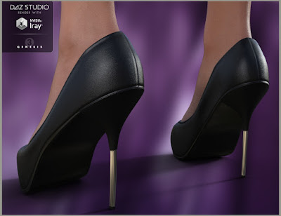 Cowl Neck Dress and Heels for Genesis 3 Female