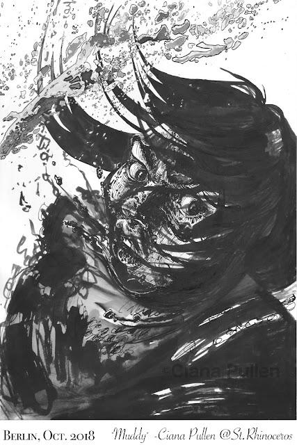 "Inktober 2018, Day 23 ""Muddy"" by Ciana Pullen / St. Rhinocéros"