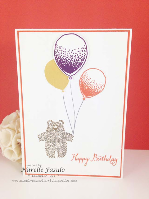 Balloon Celebration and Bear Hugs - Simply Stamping with Narelle  - order here - http://www3.stampinup.com/ECWeb/default.aspx?dbwsdemoid=4008228