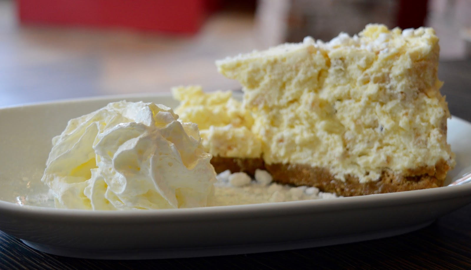 The best new restaurant in Whitley Bay - Evan's Bistro | Evening and Children's Menu Review  - homemade cheesecake