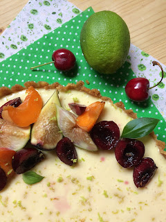 tarta fria de mango y lima receta