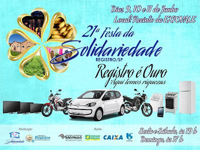 Festa da Solidariedade vai aquecer o final de semana em Registro-SP