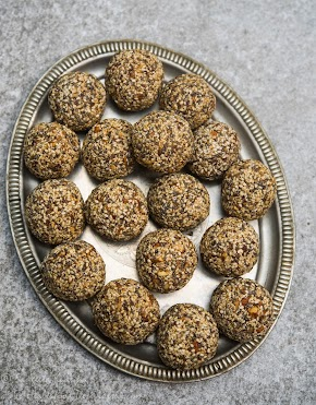 sesame almond laddu   mixed seeds and nuts protein snack