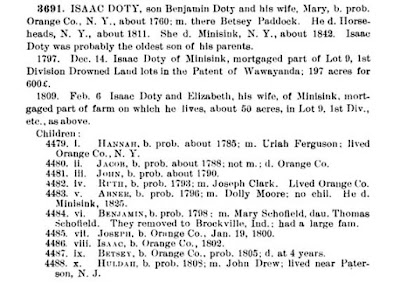 Doty-Doten Family in America, Isaac Doty excerpt, page 359