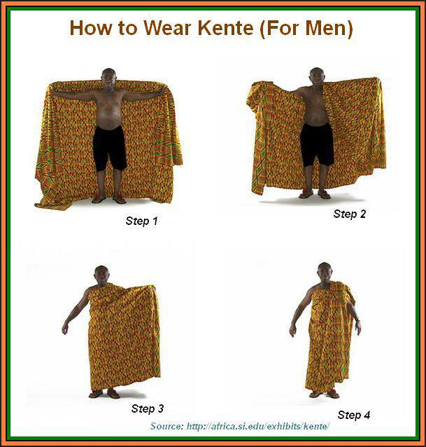 5bfd4bdbf Ghana - How Men Wear Kente
