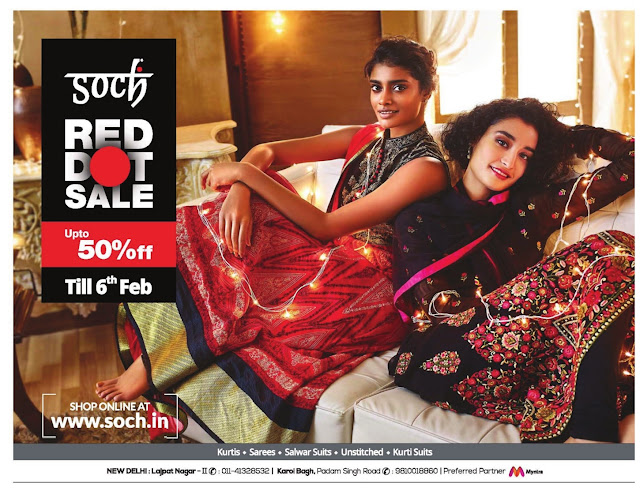 Soch Red Dot Sale | Up to 50% off | January 2016 discount offers