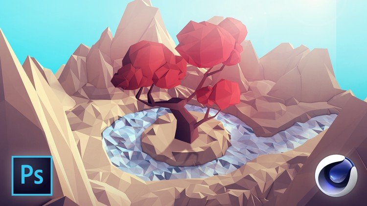 Udemy Free Courses] Learn Cinema 4D: Low Poly Tree
