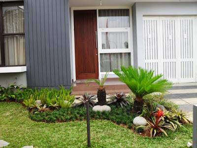 taman rumah minimalis modern tanpa pagar