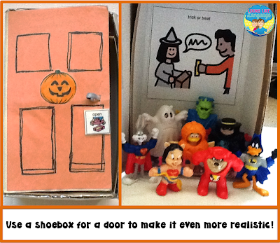 Shoeboxes can be used for Halloween, too!