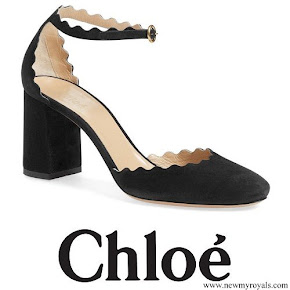 Princess Madeleine wore Chloe Scalloped Ankle Strap d'Orsay Pump
