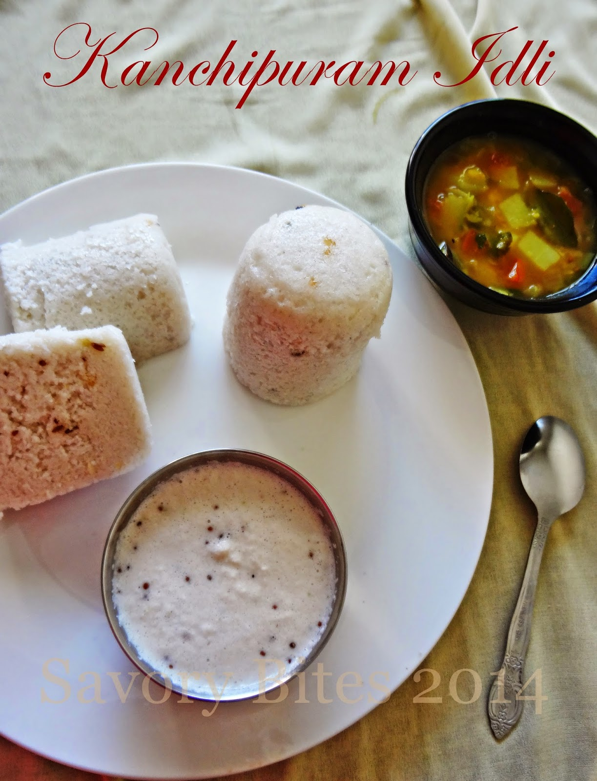 Kanchipuram Idli South Indian Breakfast Chutney Sambhar